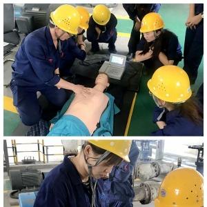 阳极分公司举办事故现场伤员急救培训及演练