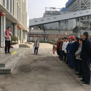 后勤服务中心组织冬季消防安全演练