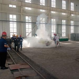 冶坪煤矿开展火灾应急救援演练