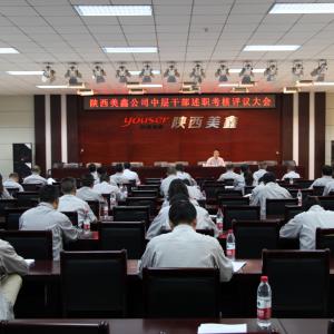 公司召开中层干部述职考核评议大会